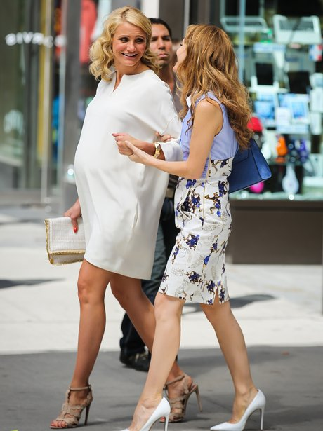 Cameron Diaz on set The Other Woman