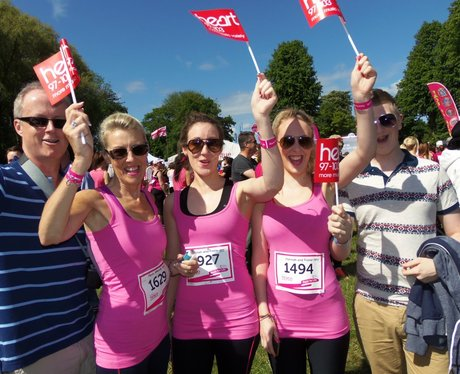 Cheering the Girls - Windsor Race for Life 02/06/2