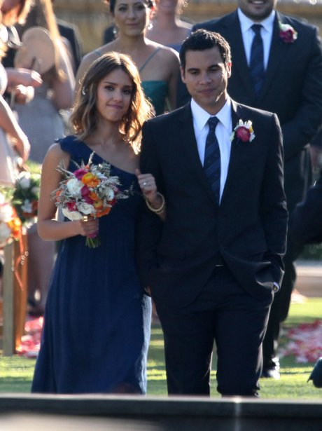 Jessica Alba is a bridesmaid for a friends wedding