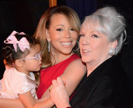 Mariah Carey with her mother and daughter