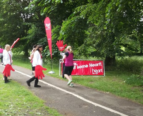 Race for Life Watford - Heart Cheer Zone