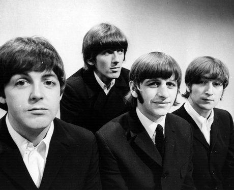 The Beatles in black and white