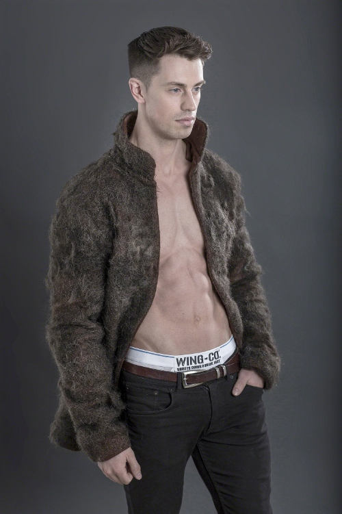 Male Fur Coat-ure A fur coat made entirely of disc