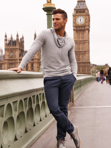Mark Wright models a new Littlewoods' collection