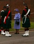The Queen visits Howe barracks