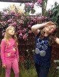 Children enjoy the maze