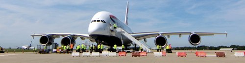 The Airbus A380 on the ground
