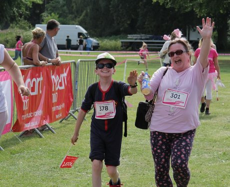High Fives and Smiles at the Finish Line Dudley!