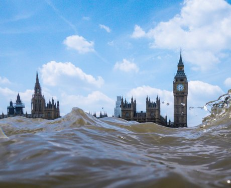 The Houses Of Parliament Under Water