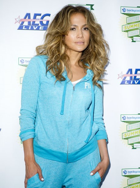 Jennifer Lopez backstage at Heart In The Park