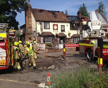 500 year old pub damaged in blaze