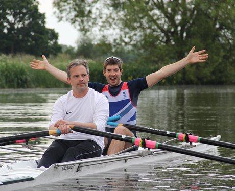 Matt rowing with Zac