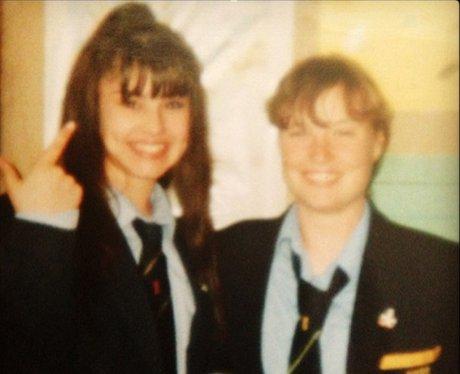 Cheryl Cole in school on instagram