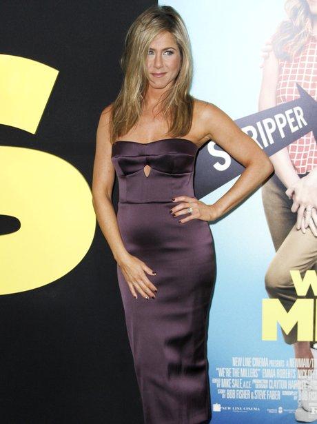 Jennfer Aniston in little black dress at premiere