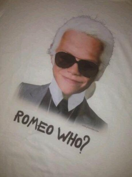 Romeo Beckham as Karl Lagerfeld Victoria Beckham T