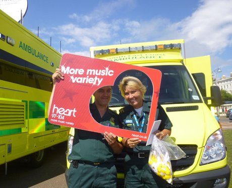 Did you see the Heart Angels at the Hove 999 day t