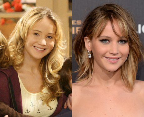 Jennifer Lawrence then and now