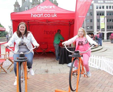 Heart's Smoothie Bike at Birmingham International