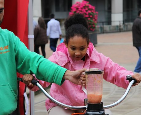 Heart's Smoothie Bike at the Food Fair 2