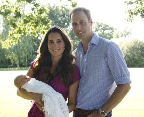 kate middleton, prince william and prince george o