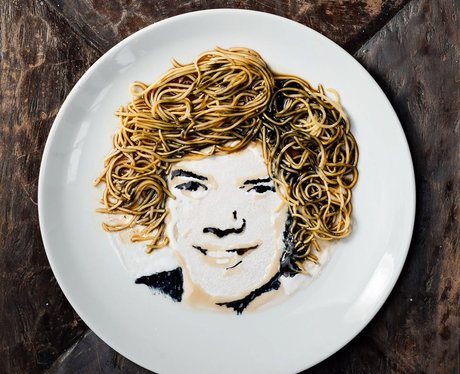 Harry Styles Noodle Art