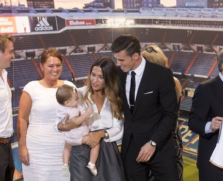 Gareth Bale with family at Real Madrid