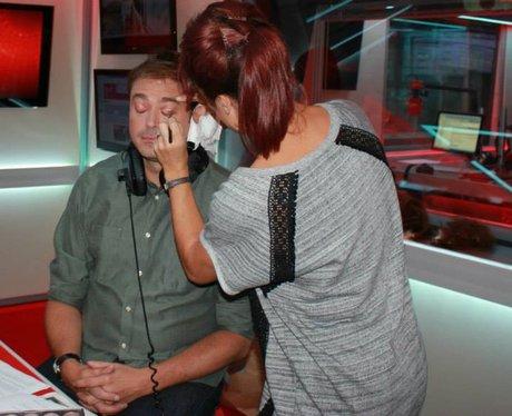 Jamie with makeup artist