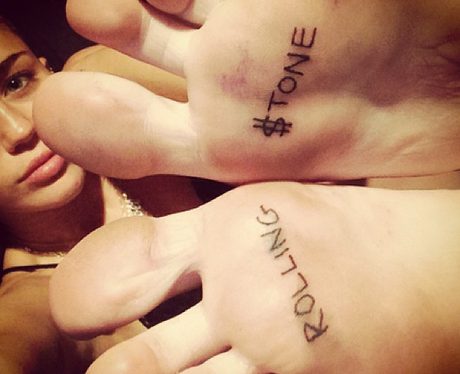Miley Cyrus Rolling Stone Tattoo