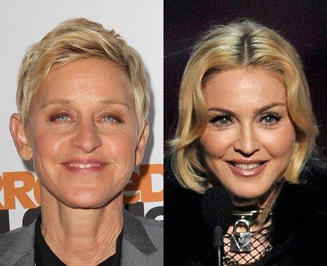Related Celebrities Ellen Degeneres and Madonna
