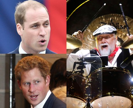 Related Celebrities Prince William, Prince Harry and Fleetwood Mac
