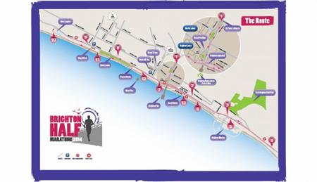 Brighton Half Marathon 2014 Route Map