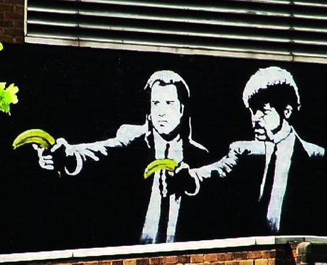 Banksy Pulp Fiction with bananas