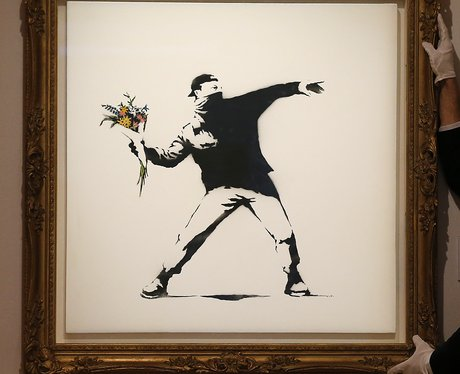 Banksy In Pictures Rage, Flower Thrower