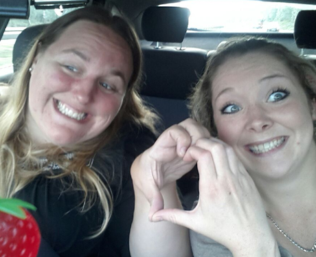 Heart listeners making Heart hands in the car