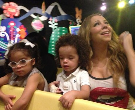 Mariah Carey and her children Disneyland