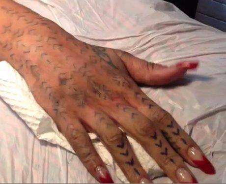 rihanna's Maori Tattoo