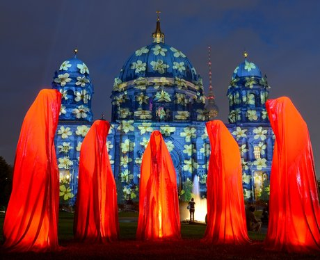 The light show in Berlin