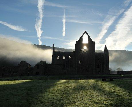 sunrise at Tintern Abbey