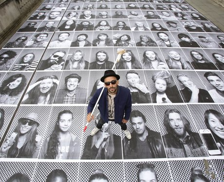 An art installation by French artist JR