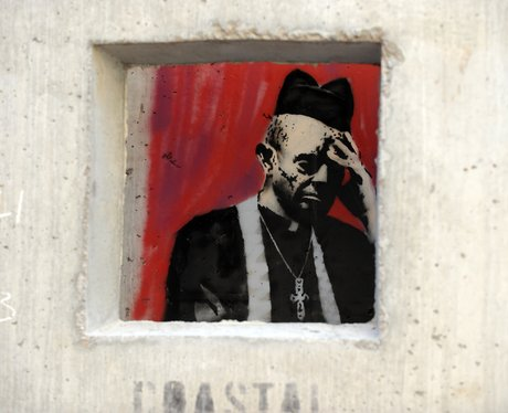 Banksy's 'Concrete Confessional' in New York