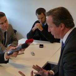 David Cameron visits Cambridge
