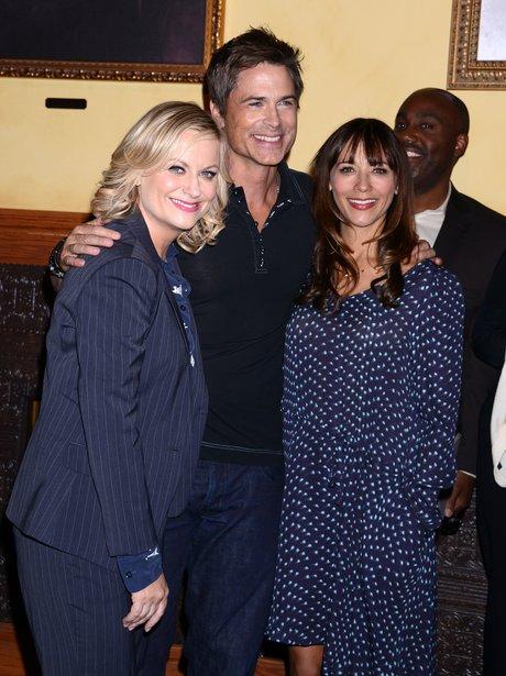 Amy Poehler, Rob Lowe and Rashida Jones celebrate