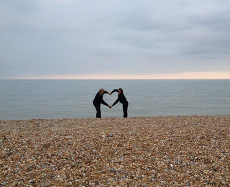 Giving It Some Heart on Pevensey Beach