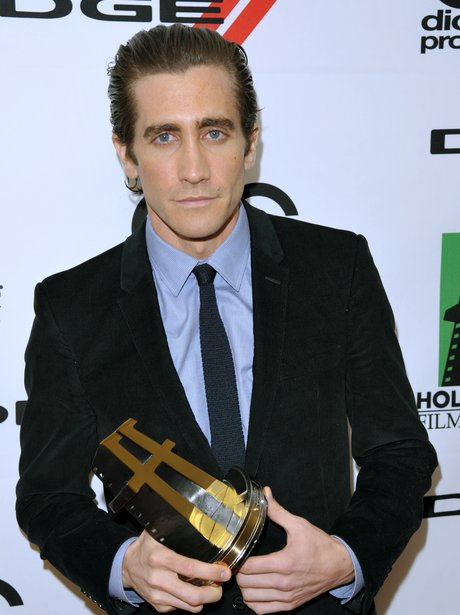 Jake Gyllenhaal collects his award