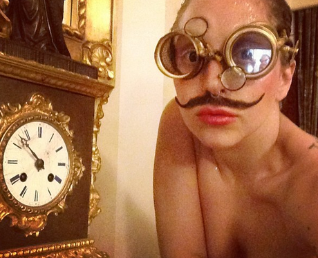 Lady Gaga Moustache I