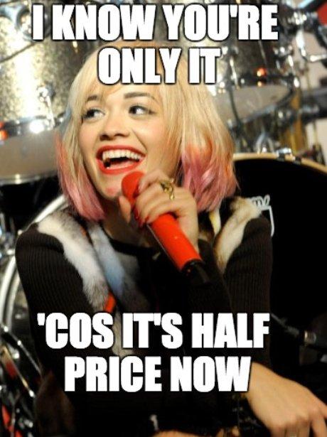 Rita Ora sings onstage