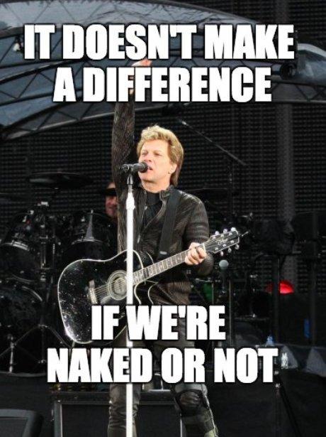 Jon Bon Jovi plays guitar