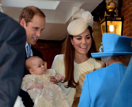 Prince George, Kate Middleton, Prince William and the Queen