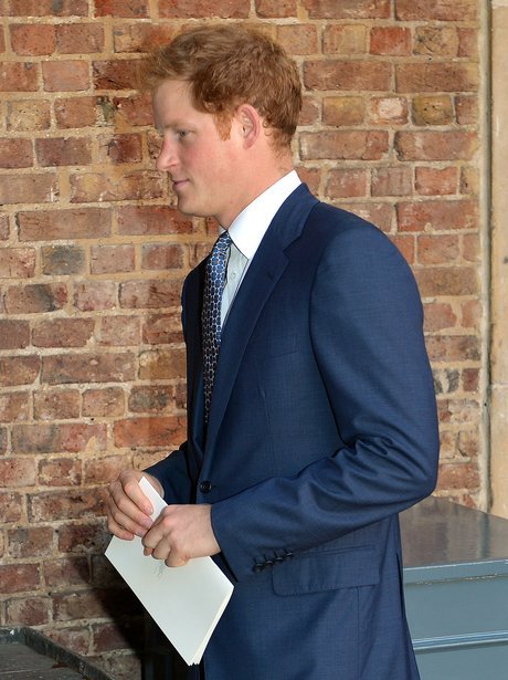 Prince Harry arrives at The Royal Chapel