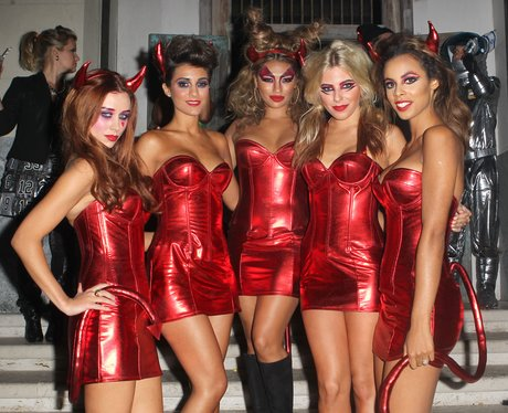 The Saturdays dressed for halloween
